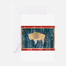 Wyoming Flag Greeting Card
