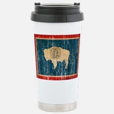 Wyoming Flag Stainless Steel Travel Mug