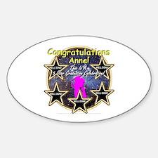 Grad Girls Anna: 0002 Sticker (Oval)