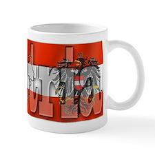 Silky Flag of Austria Mug
