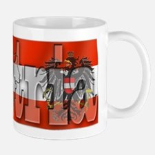 Silky Flag of Austria Small Small Mug