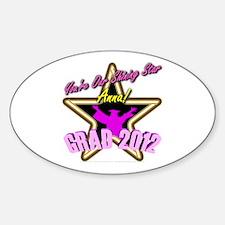 Grad Girls Anna: 0003 Sticker (Oval)