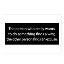No Excuses Postcards (Package of 8)