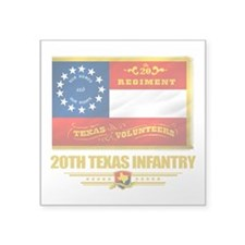 20th Texas Infantry (flag 10).png Square Sticker 3