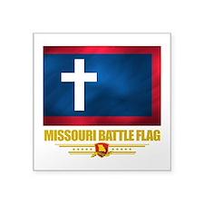 Missouri Battle Flag (flag 10).png Square Sticker
