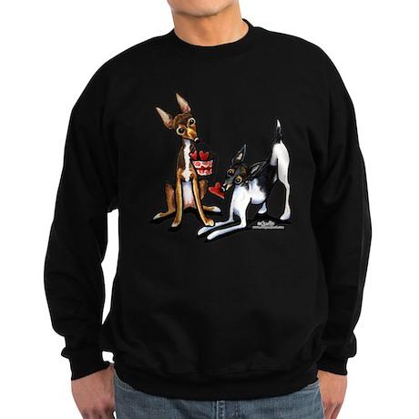 Rat Terrier Sweethearts Sweatshirt (dark)