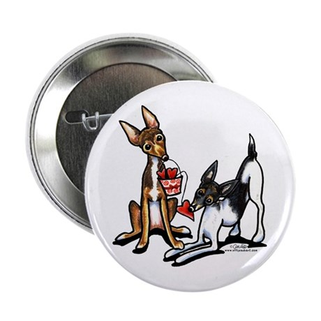 """Rat Terrier Sweethearts 2.25"""" Button"""
