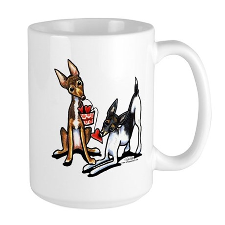 Rat Terrier Sweethearts Large Mug