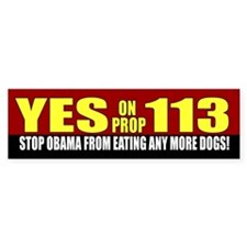 anti-Obama eating dogs sticker