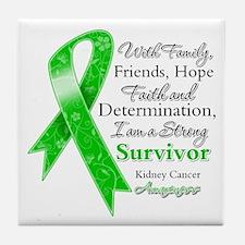 Strong Survivor Kidney Cancer Tile Coaster