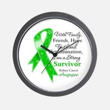 Strong Survivor Kidney Cancer Wall Clock