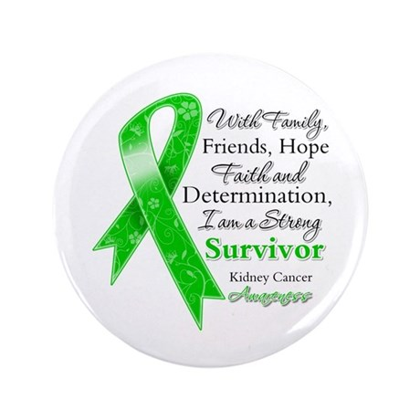 "Strong Survivor Kidney Cancer 3.5"" Button (100 pac"