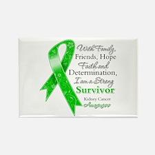Strong Survivor Kidney Cancer Rectangle Magnet