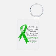 Strong Survivor Kidney Cancer Keychains