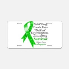 Strong Survivor Kidney Cancer Aluminum License Pla