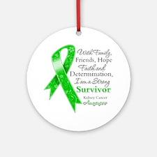 Strong Survivor Kidney Cancer Ornament (Round)