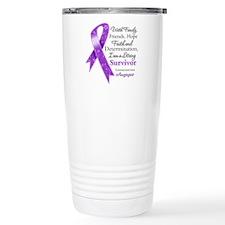 Leiomyosarcoma Strong Survivor Travel Mug