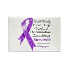 Leiomyosarcoma Strong Survivor Rectangle Magnet