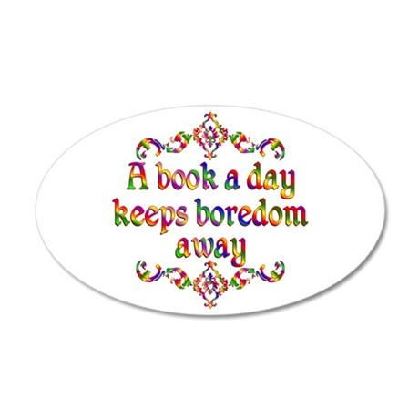 Book a Day 20x12 Oval Wall Decal