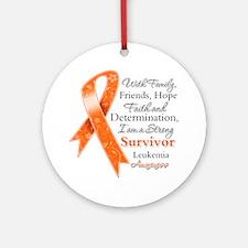Leukemia Strong Survivor Ornament (Round)