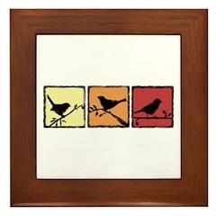 Bird Grunge Silhouette Framed Tile