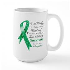 Liver Cancer Strong Survivor Mug