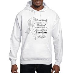 Lung Cancer Strong Survivor Hoodie