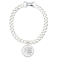 Lung Cancer Strong Survivor Charm Bracelet, One Ch
