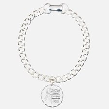 Lung Cancer Strong Survivor Charm Bracelet, One Ch