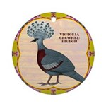 Crowned Pigeon Floral Ornament (Round)