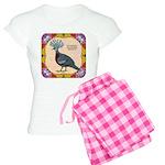 Crowned Pigeon Floral Women's Light Pajamas