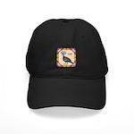 Crowned Pigeon Floral Black Cap