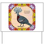 Crowned Pigeon Floral Yard Sign