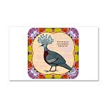 Crowned Pigeon Floral Car Magnet 20 x 12