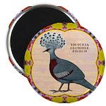 Crowned Pigeon Floral Magnet