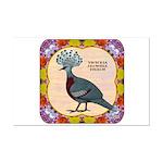 Crowned Pigeon Floral Mini Poster Print