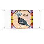Crowned Pigeon Floral Banner