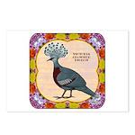 Crowned Pigeon Floral Postcards (Package of 8)