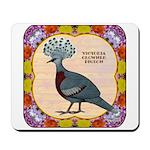Crowned Pigeon Floral Mousepad