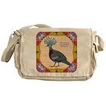 Crowned Pigeon Floral Messenger Bag
