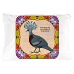 Crowned Pigeon Floral Pillow Case