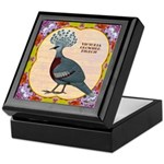 Crowned Pigeon Floral Keepsake Box