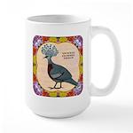 Crowned Pigeon Floral Large Mug
