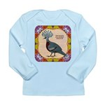 Crowned Pigeon Floral Long Sleeve Infant T-Shirt