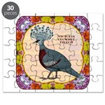 Crowned Pigeon Floral Puzzle