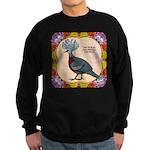 Crowned Pigeon Floral Sweatshirt (dark)