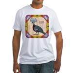 Crowned Pigeon Floral Fitted T-Shirt