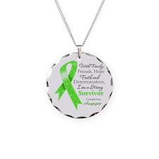 Lymphoma Strong Survivor Necklace