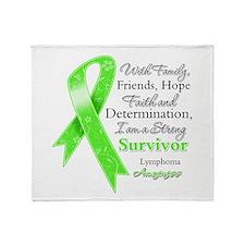 Lymphoma Strong Survivor Throw Blanket