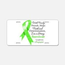 Lymphoma Strong Survivor Aluminum License Plate